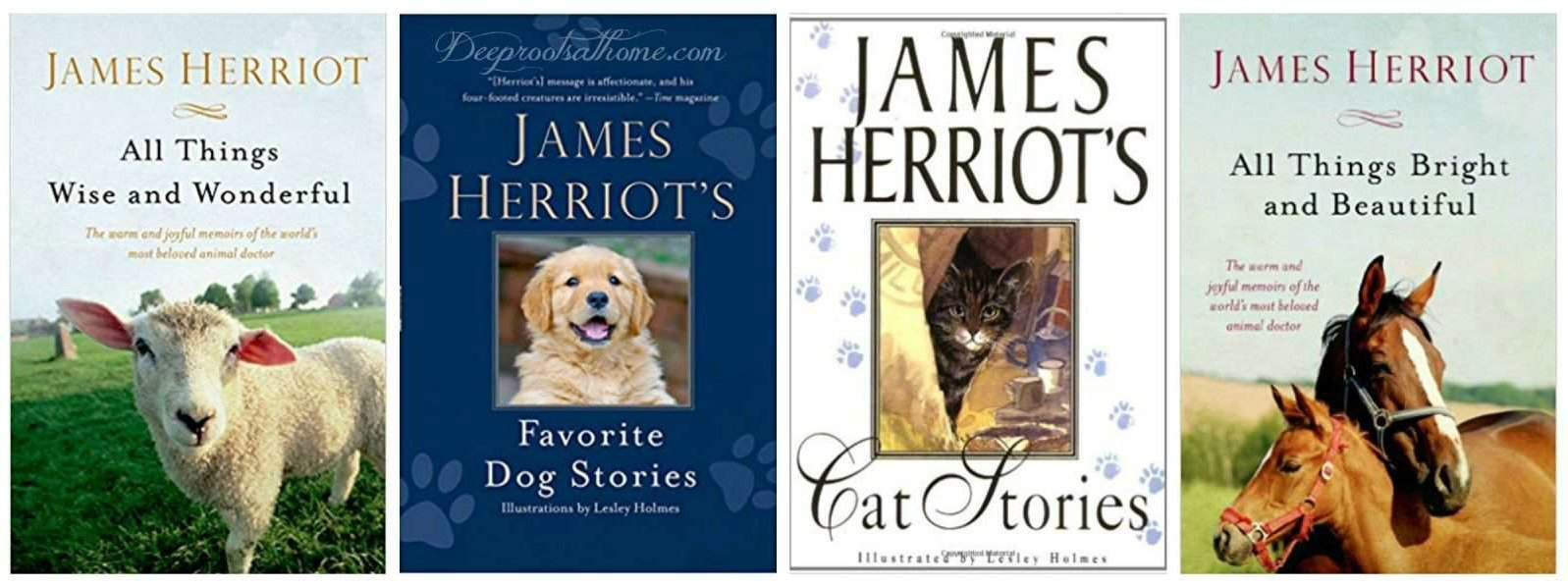 4 James Herriot books on the reading list.