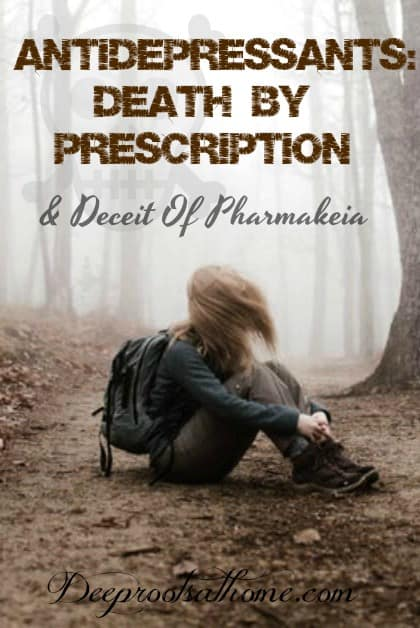 "Antidepressants: Death By Prescription & Deceit Of ""Pharmakia"". Young woman on antidepressants sitting in the dirt, depressed and alone."