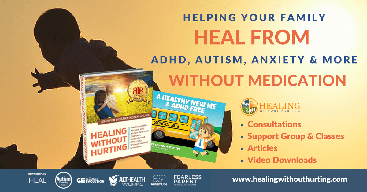 9 Unexpected Things Learned In Healing My Child from ADHD & Anxiety. Jennifer's promo on her books.