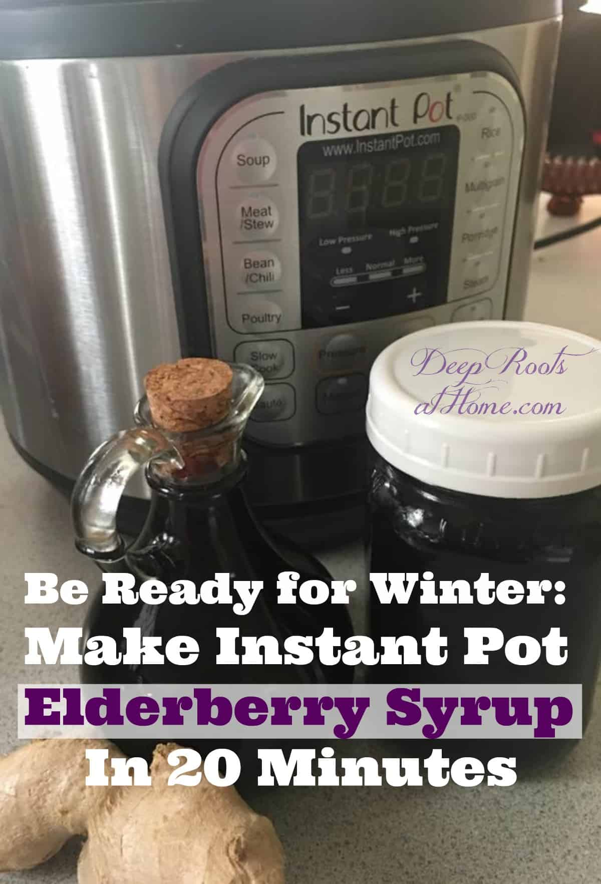 Be Ready for Winter: Make Instant Pot Elderberry Syrup In 20 Minutes. elderberry syrup made in an Instant Pot.