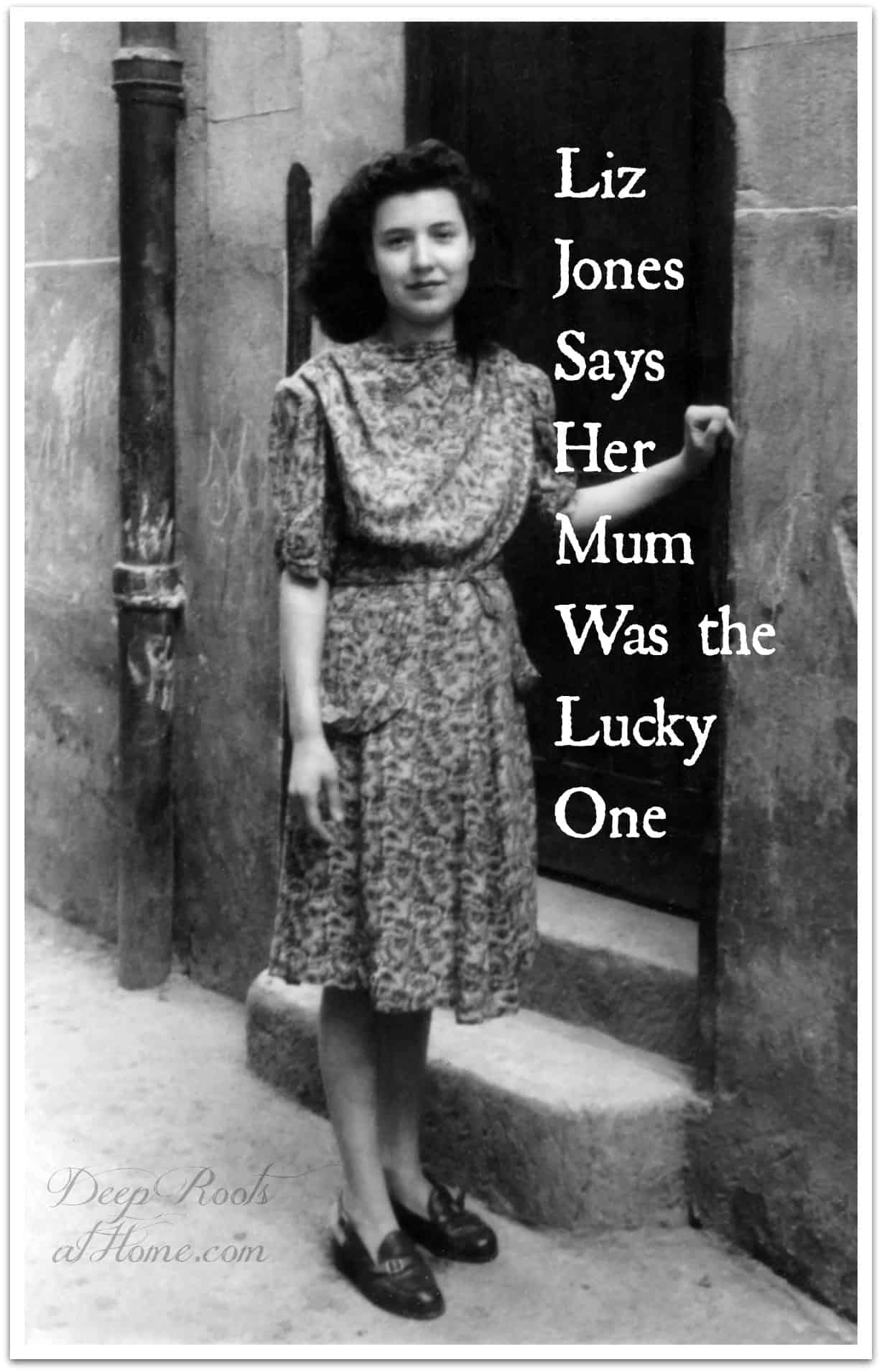 Liz Jones Says Her Old-Fashioned Mum Was the Lucky One. A young woman in vintage dress circa 1940.