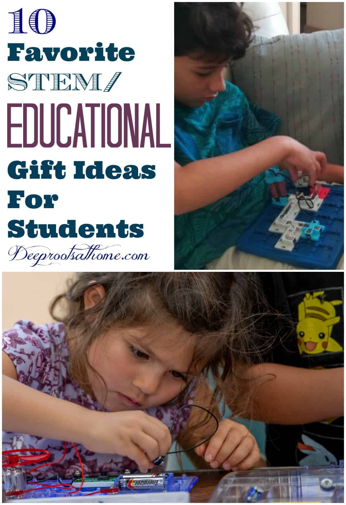 Our 10 Favorite STEM/Educational Gift Ideas For Students. Young students working intently on STEM learning games
