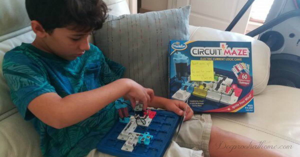 10 Favorite STEM/Educational Gift Ideas For Students. Young student playing a circuit maze game.