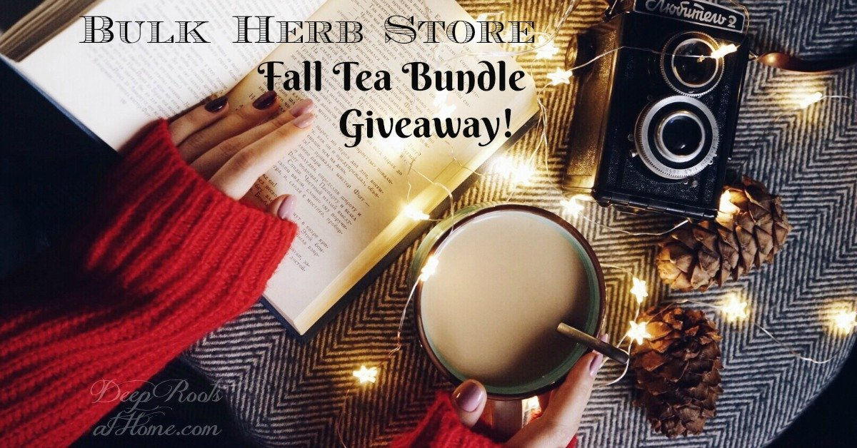 Bulk Herb Store Fall Season (3) 1/2# Tea Bundle Giveaway. drinking tea