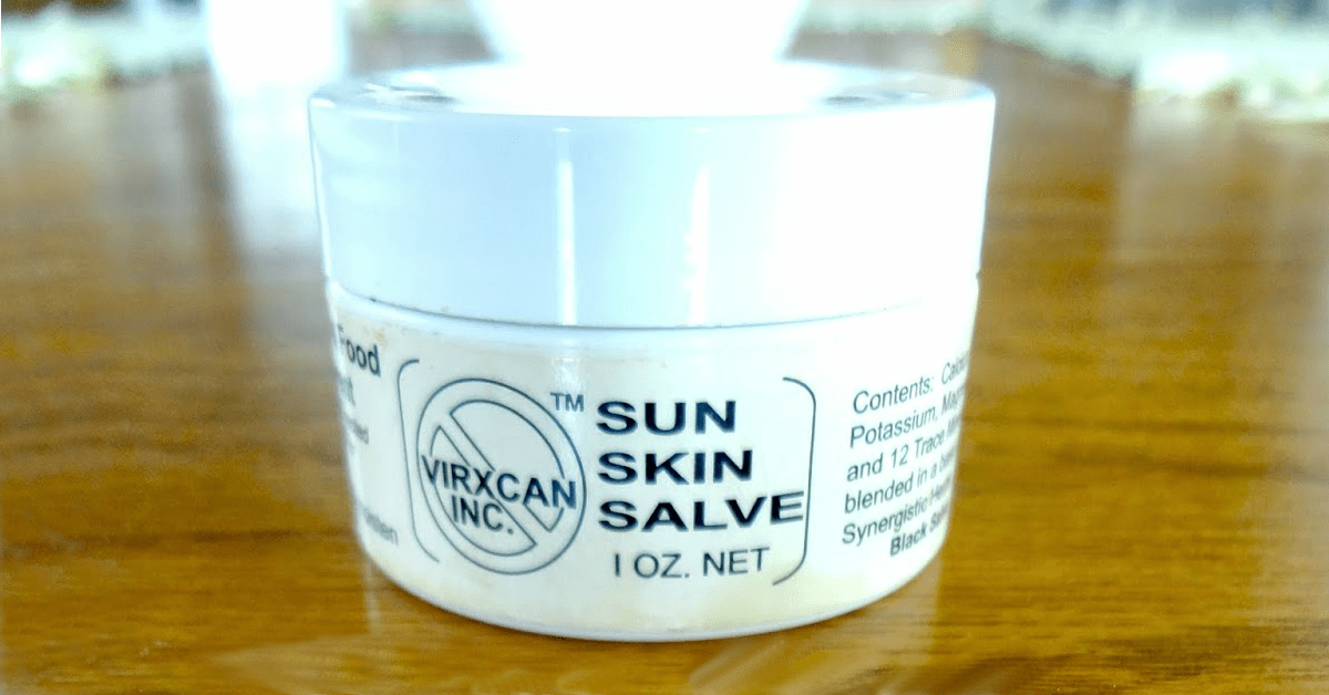 Black Salve: Anecdotal Healing Skin Growths, Warts, Moles & Skin Tags. A small jar of Virxcan Sun Skin Salve