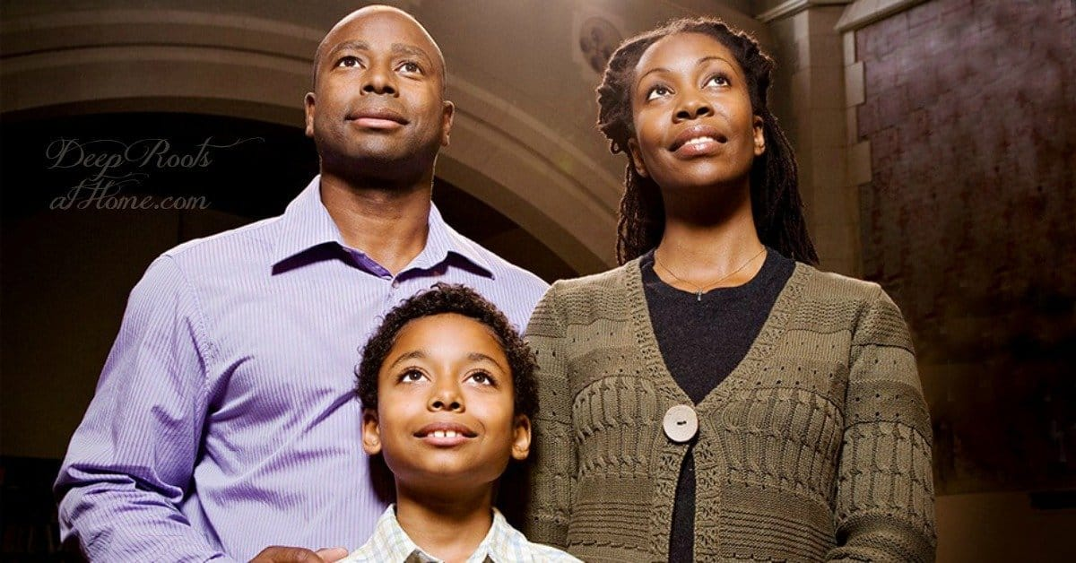 Fathers, Take Your Children to Church: You Can Make a Difference. An African American Family looking up