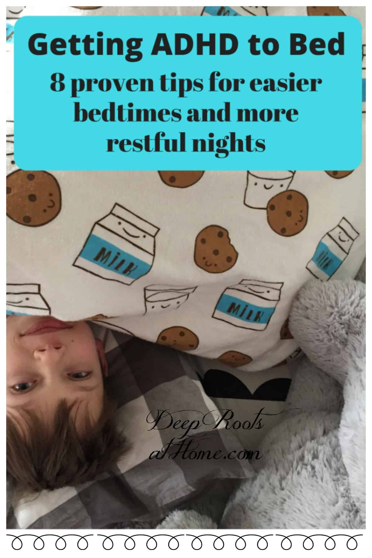Getting ADHD to Bed: 8 Proven Tips for Bedtime & Quieter Nights. A 8-9 year old boy in bed