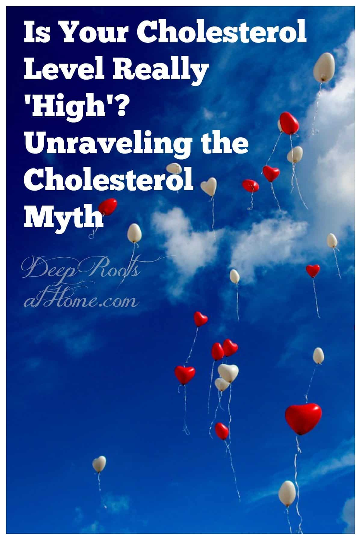 Is Your Cholesterol Level Really 'High'? Unravelling the Cholesterol Myth. Balloons floating up to the sky
