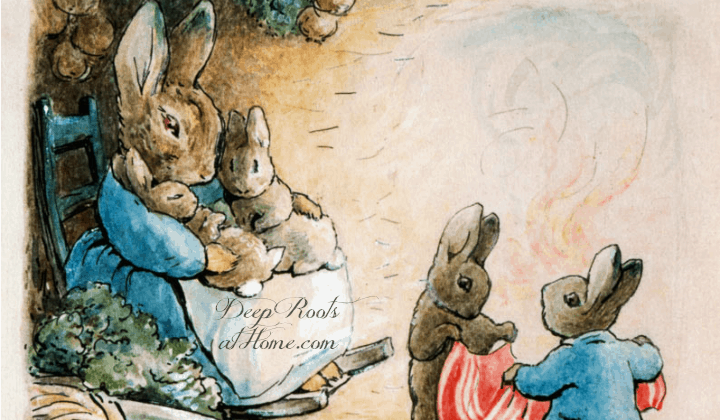Treasured Old Booklist: There Is No App To Replace Your Lap. Mama rabbit and her children