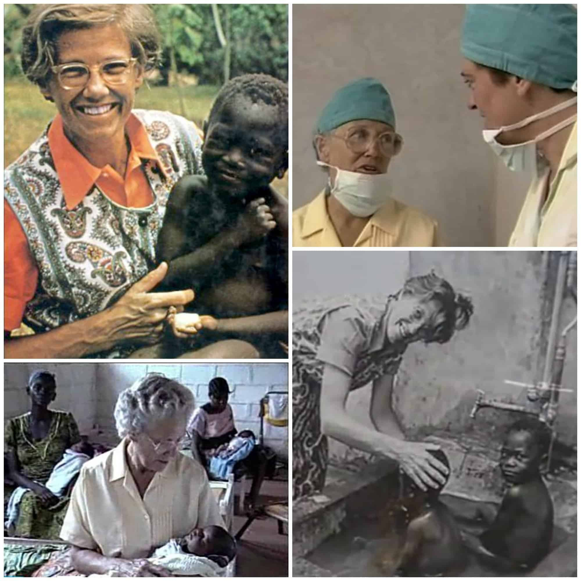 Helen Roseveare: Congo Missionary MD: Grace to Forgive Her Rapists. collage