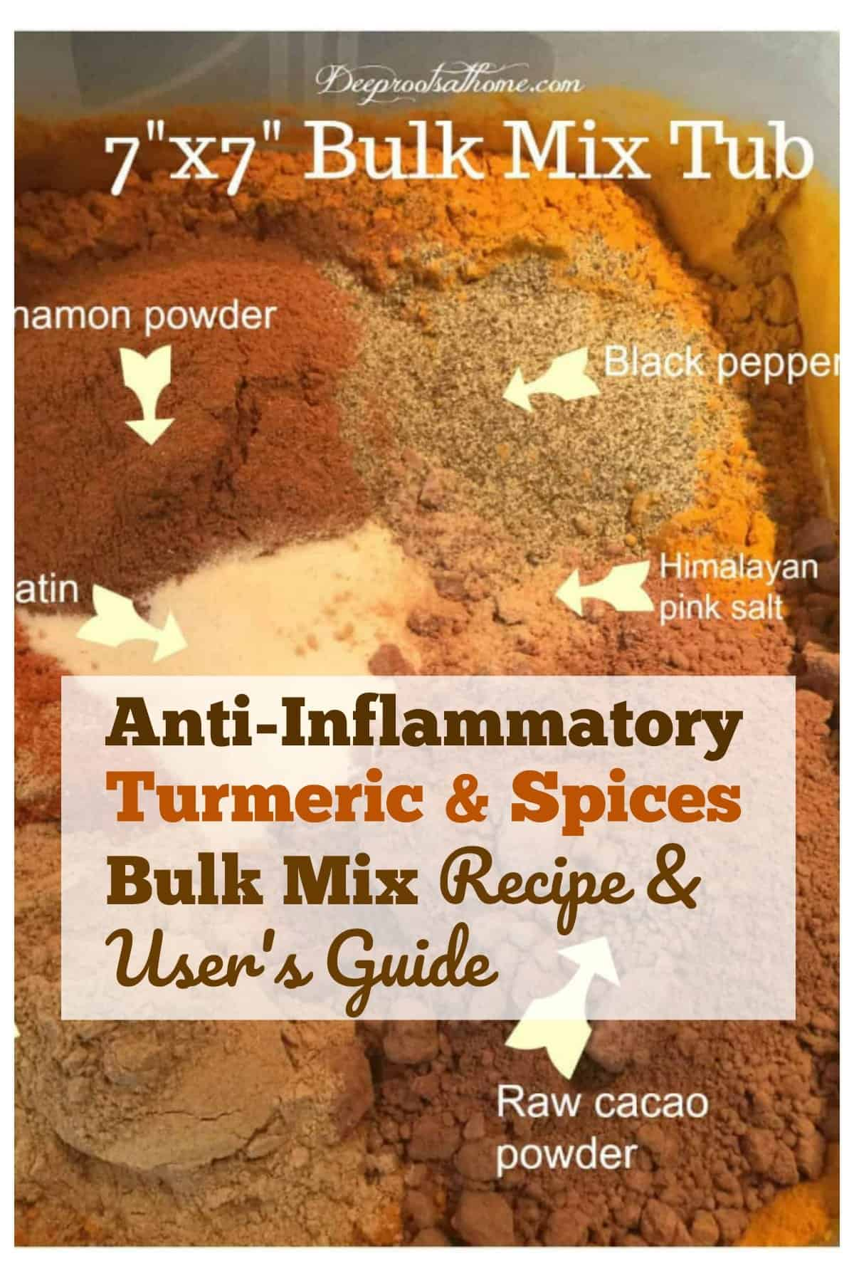 inflammatory spices in a tub