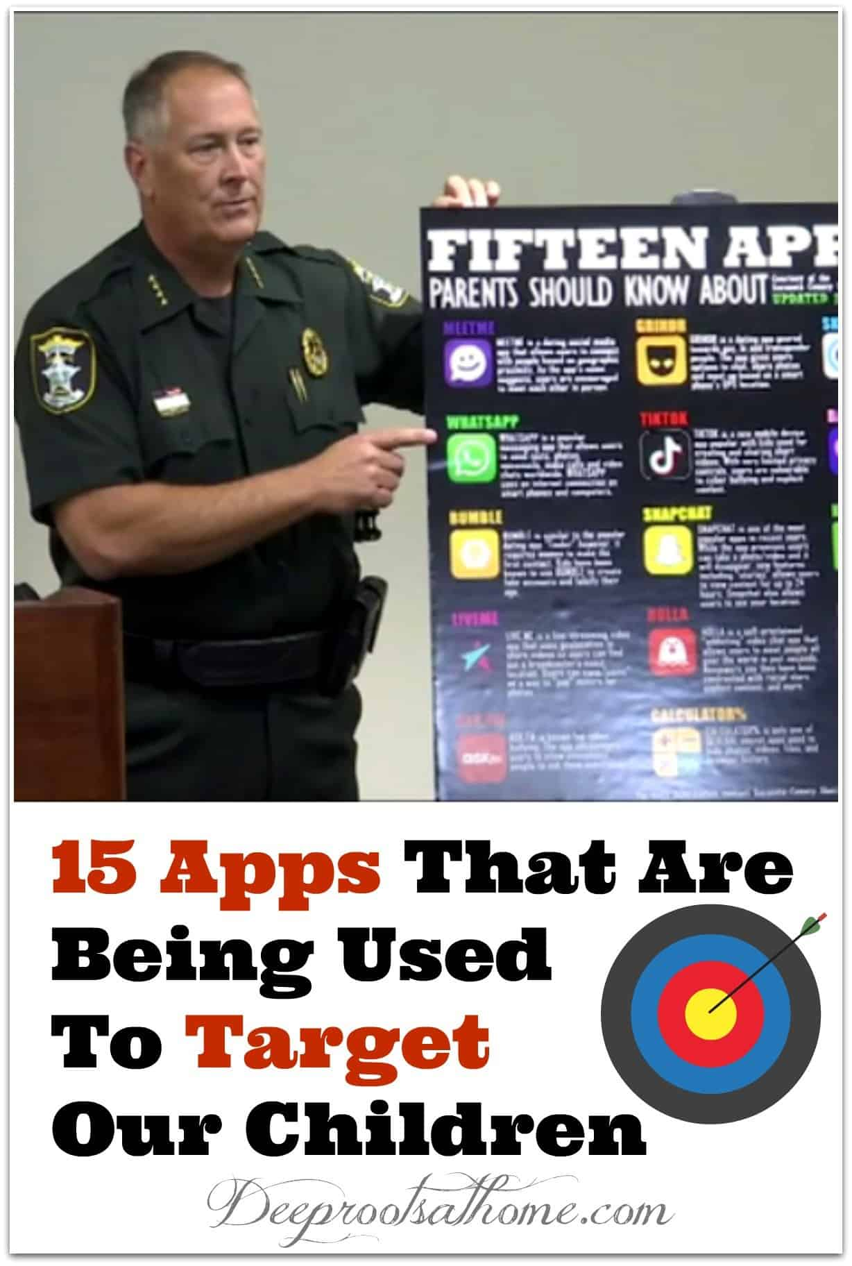 15 Apps That Are Being Used To Target Our Children. sheriff pointing