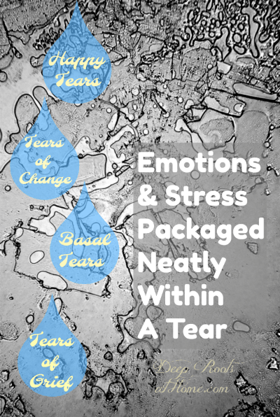 Emotions & Stress Are Released Within Your Tears So Have a Good Cry!