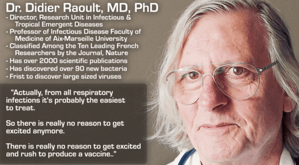 Dr. Didier Raoult, MD, PhD