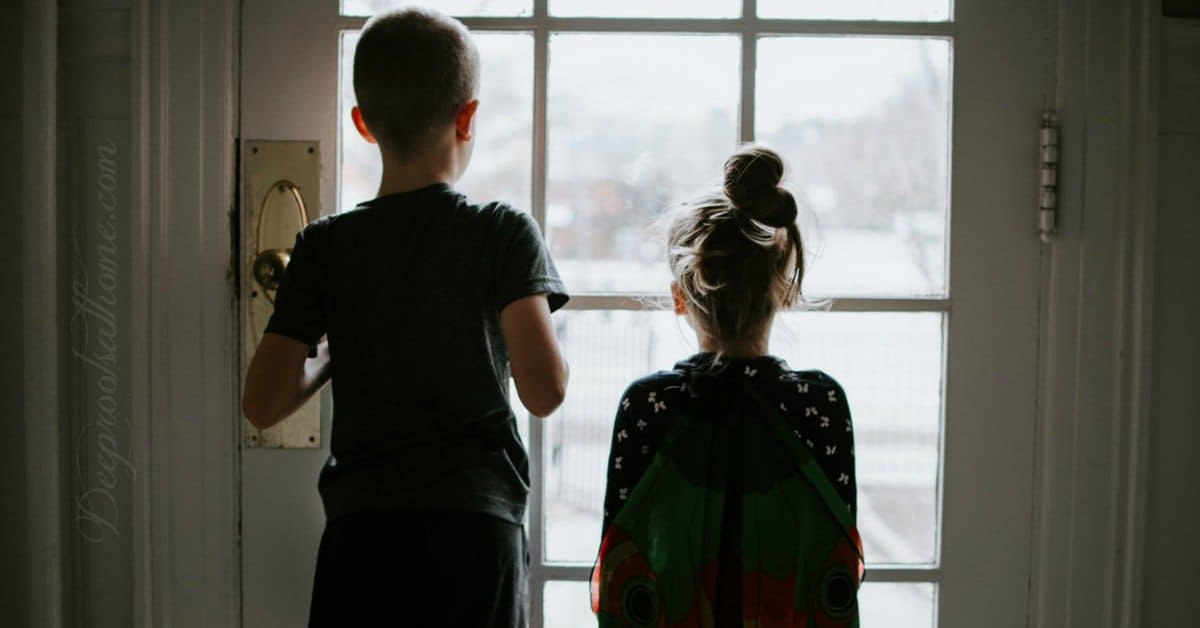 Opportunity To Research Our Futures In An Ongoing Battle of Agendas. kids at window