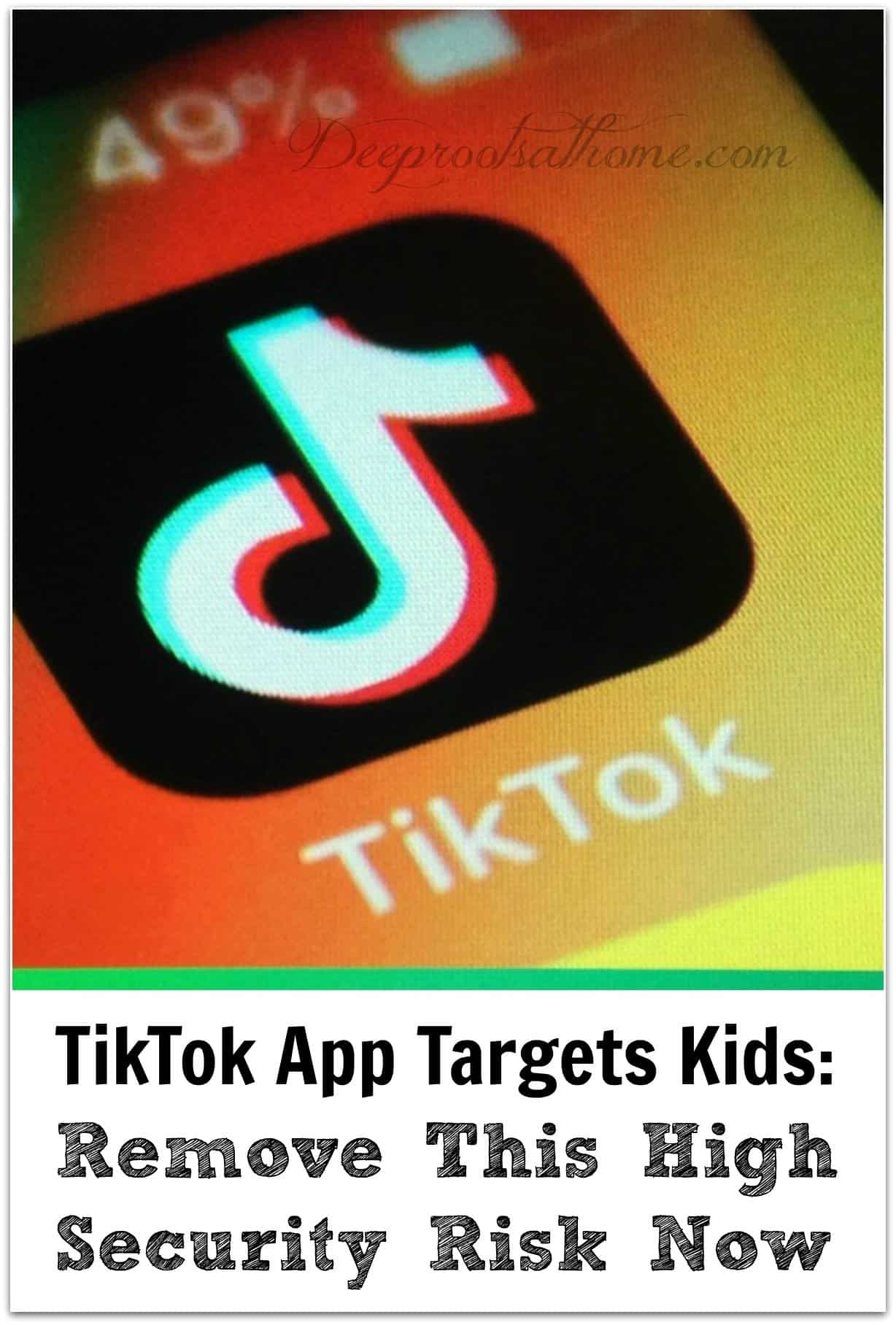 TikTok App Targets Kids: Please Remove This High Security Risk Now. app