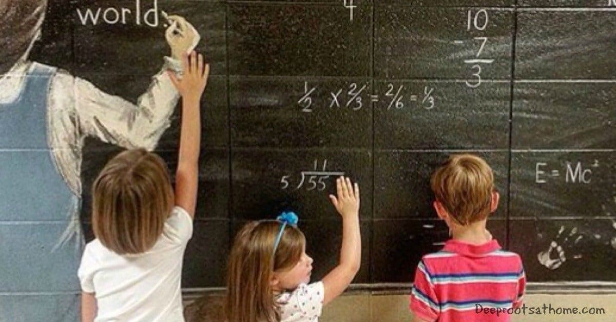 "Finding Our Way Back to the ""Old Normal"" in Education, chalkboard"