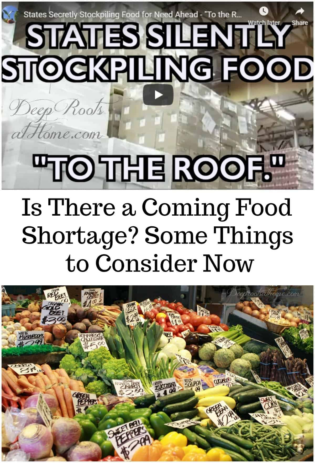 Is There a Coming Food Shortage? Some Things to Consider Now, produce