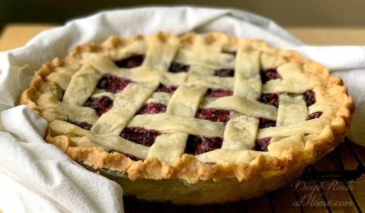Mulberry Pie Recipe: Wild Sweet Fruit Awaits You in Late Summer. warm pie