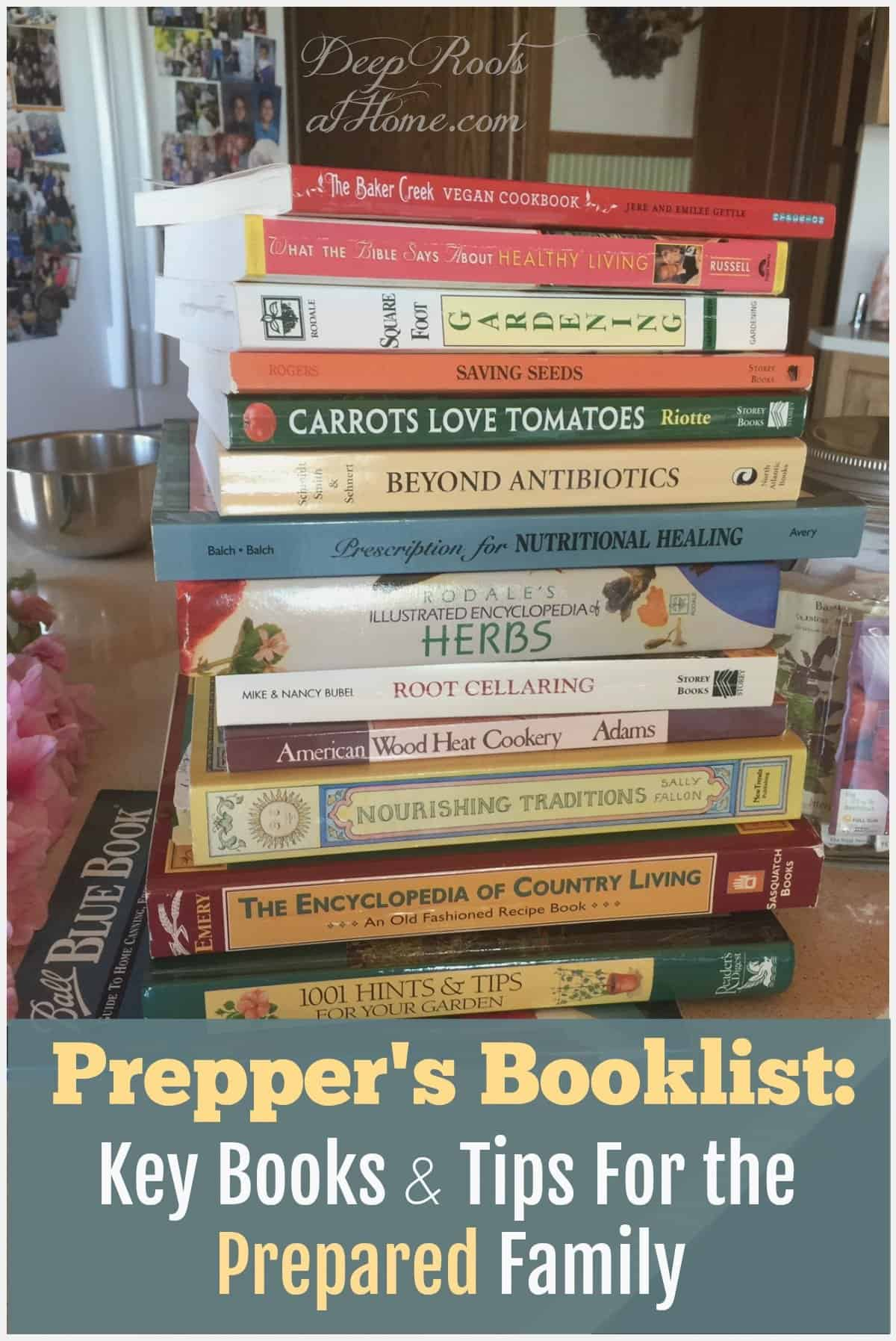 Prepper's Booklist: Key Books & Tips For the Prepared Family. be prepared