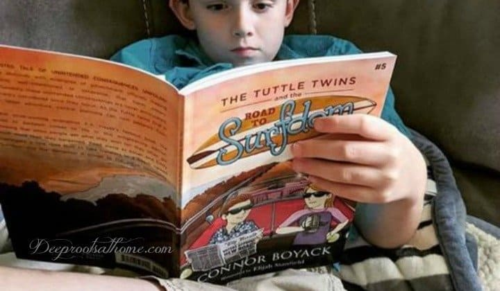 The Tuttle Twins GIVEAWAY: Kids Books that Wised-Up Families Love. reading book