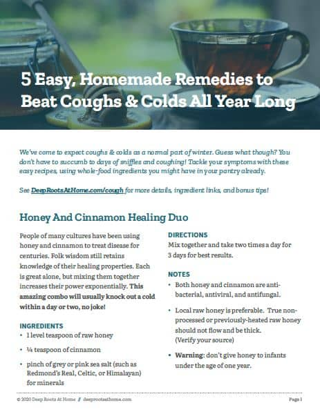 5 Easy Cough + Cold Remedies
