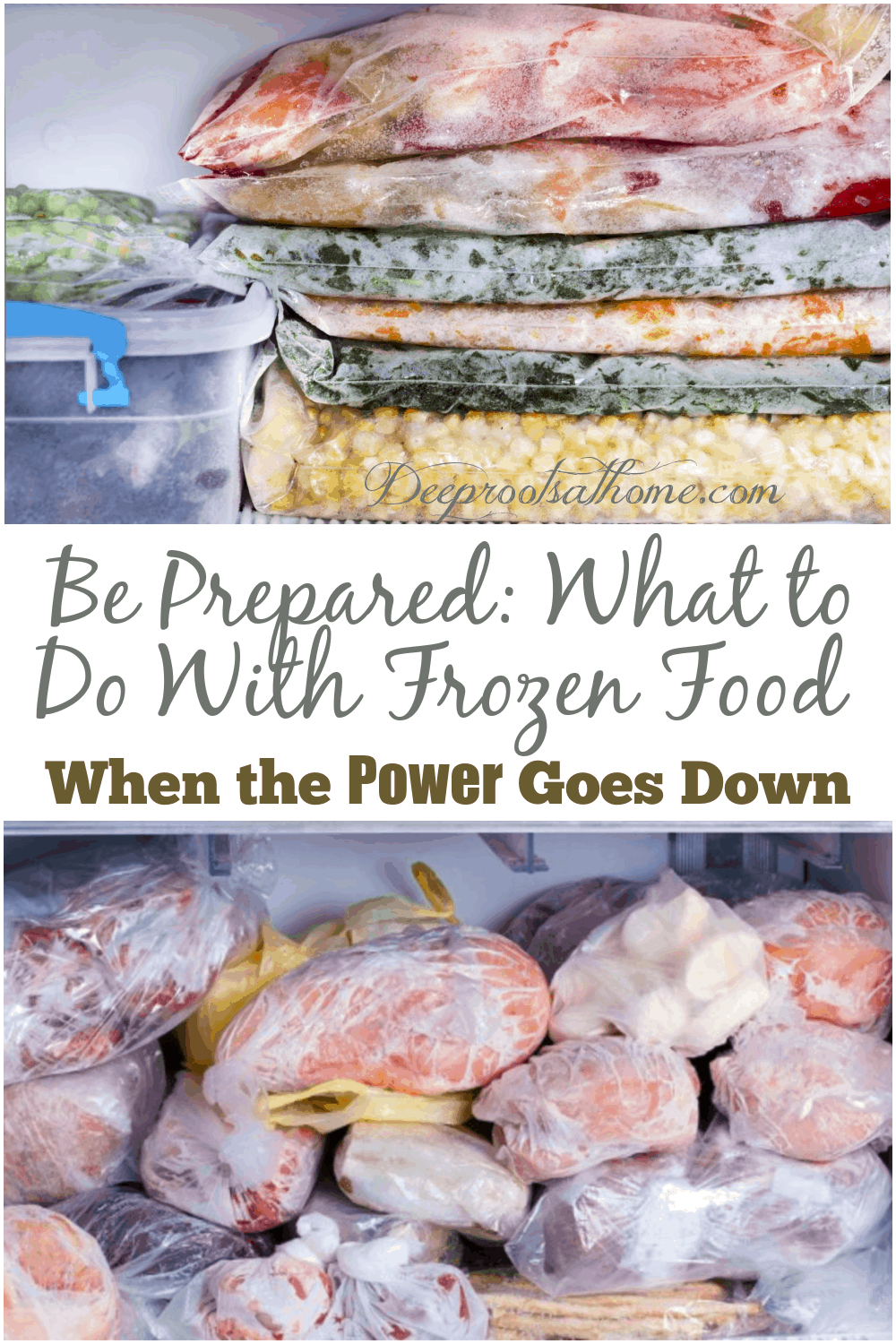 Be Prepared: What to Do With Frozen Food When the Power Goes Down